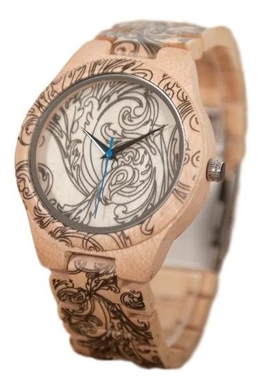 Relógio Unissex Bobo Bird O07 Bambu Analógico - Lindo!