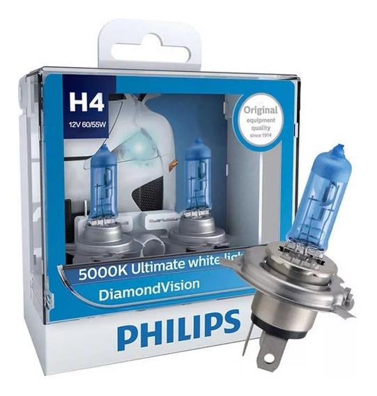 ( 100% Original ) Philips Diamond Vision 5000k H4