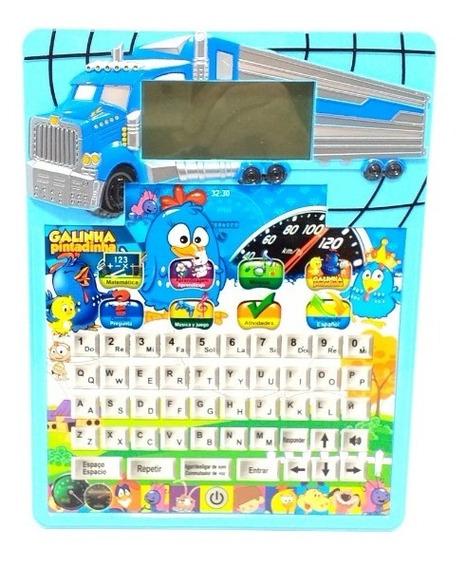 Tablet Brinquedo C/visor Digital Galinha Pintadinha Educativ