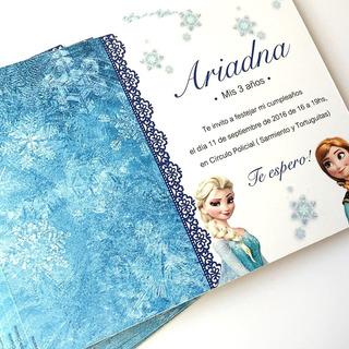 Invitaciones Tarjetas Frozen Cumpleaños Ana Elsa Olaf Unicas