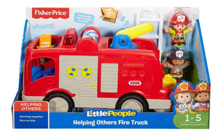 Fisher-price Little People Carro Bombeiro - Frases E Sons