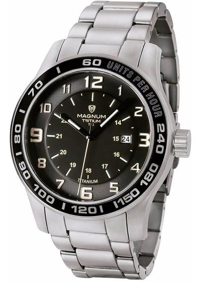 Relógio Magnum Masculino Titanium Tritium Mt30080t Analogico