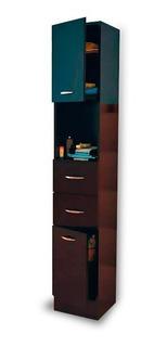 Mueble Organizador Para Baño Modelo Sintra Color Chocolate.