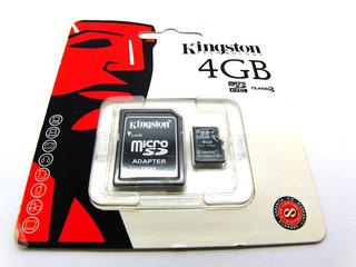 Cartao De Memoria Kingston Micro Sd C4 4gb Com Adaptador Sd