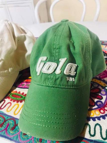 Gorra Gola Verde O Crema C/u