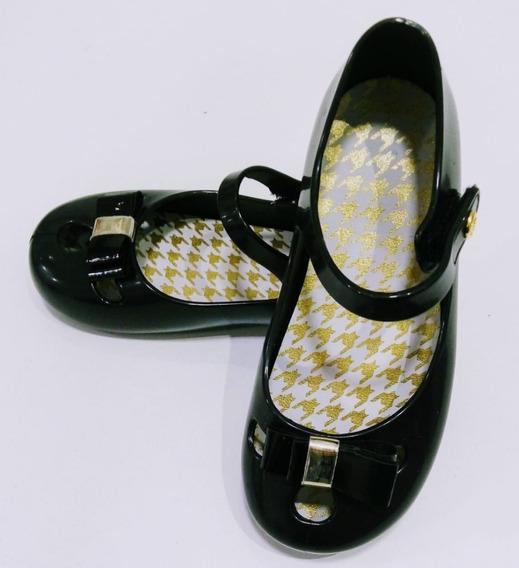 Sapatilha Preta Dourada Pimpolho Feminina, Sandália,sapato.
