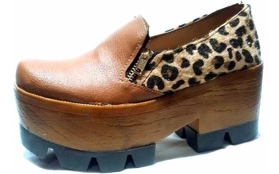 Liquidacion 70% Off Zapatos Abotinados, Con Plataforma