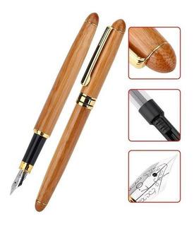 2 en 1 pluma de bambú roja pluma Rotatable caja de bolígrafo Pen