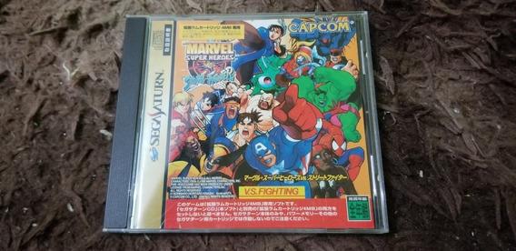 Marvel Vs Street Fighter Original Japonês Sega Saturn.