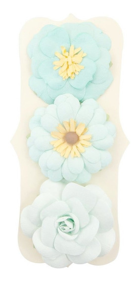 Set De 3 Flores De Papel Color Pastel Craftsmart