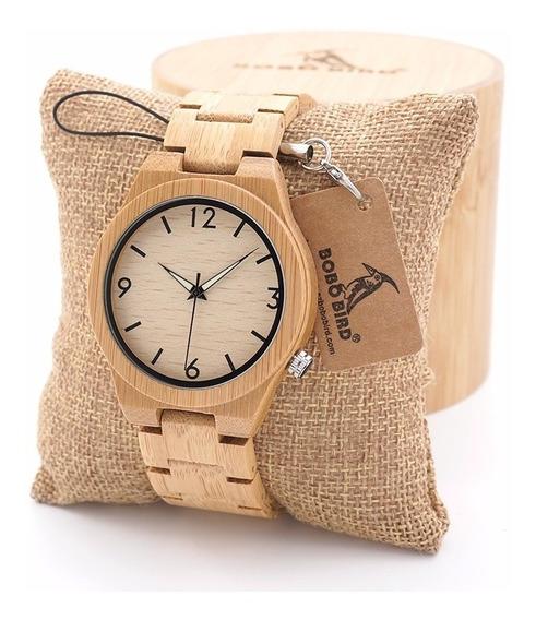 Relógio Madeira Original Lançamento Frete Grátis