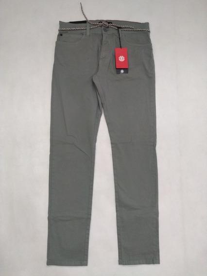 Calça Masculina Sarja Element Stone Grey Original Cinza