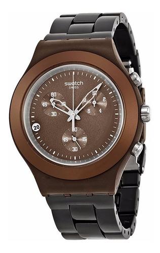 Relógio Swatch Full Blooded Smoky Brown Svcc4000ag