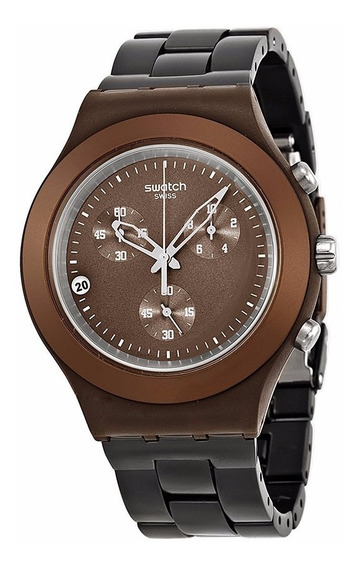 Relógio Swatch Full Blooded Smoky Brown Svcc4000ag