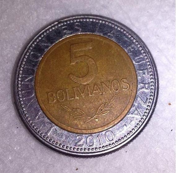 Moneda De Bolivia 5 Bolivianos De 2010