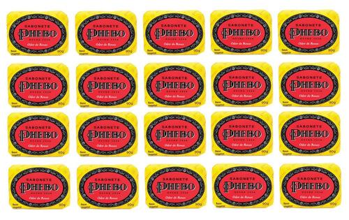 Kit 20 Sabonete Phebo Odor De Rosas - 90g Cada