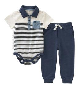 Conjunto De Bebê Calvin Klein - Body + Calça