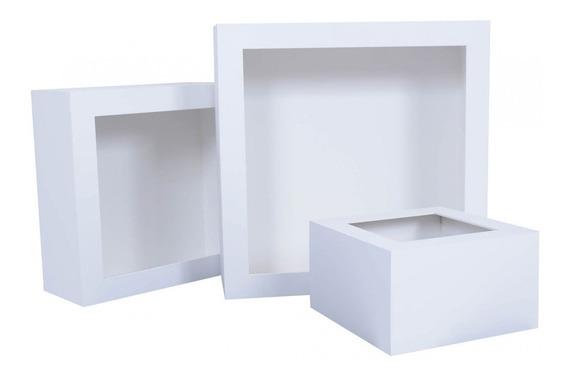 Nicho Quadrado Em Mdf Kit Com 3 Peças E (5 Opções De Cores)