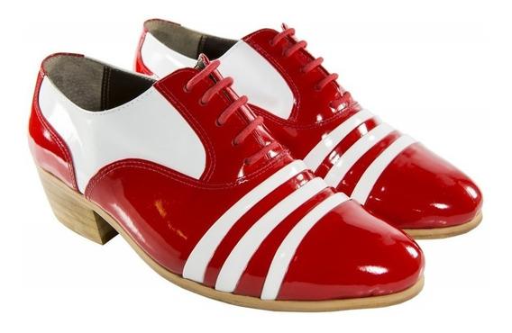 Sapato De Filme Masculino Social Luxo Vermelho E Branco