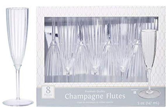 8 Copas Champagne Champaña Lujo Tipo Cristal Fiesta Boda