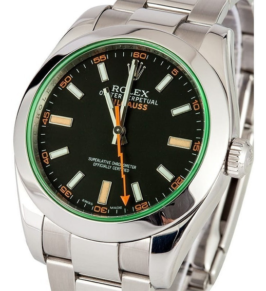 Reloj Rolex Milgauss (oystersteel Esfera Negra)