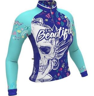 Camisa Ert Manga Longa Nova Tour Beautiful Ciclismo Mtb Bike