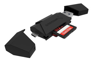 Lector De Memoria - Usb 3.0 + Otg Micro Usb - Micro Sd / Sd