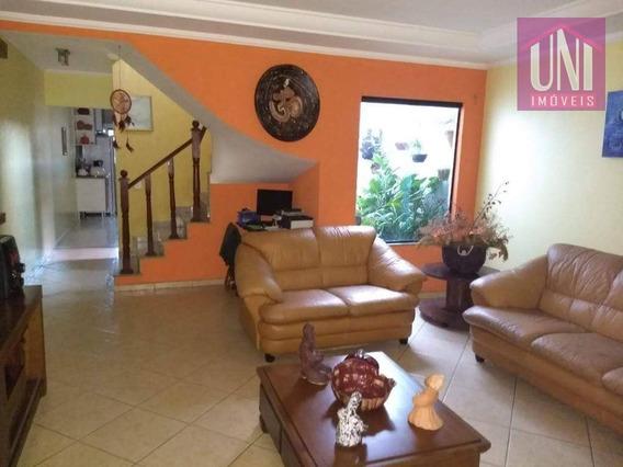 Sobrado Com 4 Dormitórios À Venda, 254 M² Por R$ 580.000 - Parque Oratório - Santo André/sp - So0551