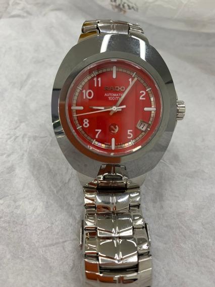 Relógio Rado Diastar Automatic Fundo Vermelho