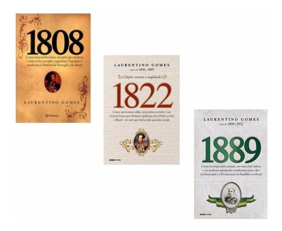 Kit 1808 + 1822 + 1889 - História Do Brasil (3 Livros) #