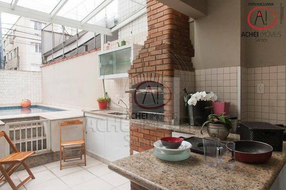 Casa Com 4 Dormitórios À Venda, 207 M² Por R$ 990.000 - Campo Grande - Santos/sp - Ca1705