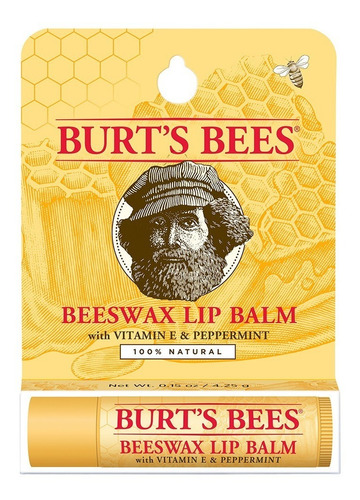 Imagen 1 de 3 de Bálsamo Labial, Cera De Abejas En Blister, Burt's Bees