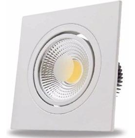 Luminárias Led Flc Kit 10 Spot Cob Quadrada 3w 3000k