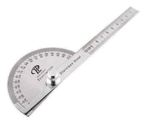 Goniometro Regla 100 Mm C/transportador 180° Ruhlmann Prof
