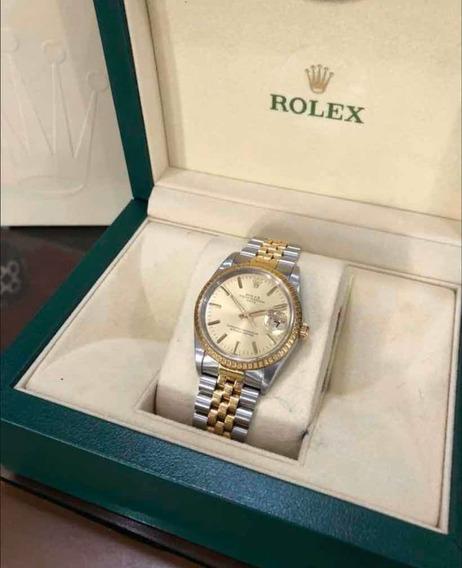 Rolex Datejust Acero Y Oro 15223, Original Caballero