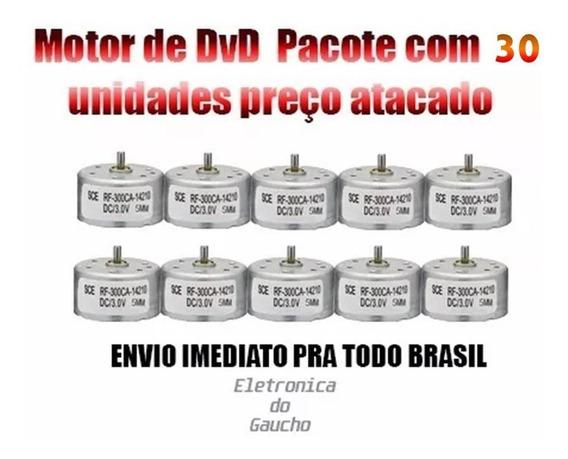 Kit 30 Peças Motor Para Dvd 5v Eixo 5mm Envio Imediato