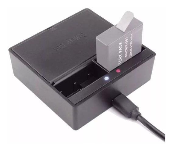 Carregador Usb Duplo De Bateria Para Go Pro Hero 5 6 7 Black