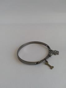 Bracelete Feminino Rodio Negro C/pingentes Frete Gratis