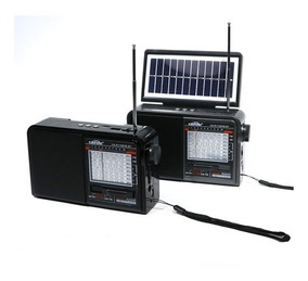 Radio ,fm Am Usb Tf Sd ,com Placa Solar + Mp3