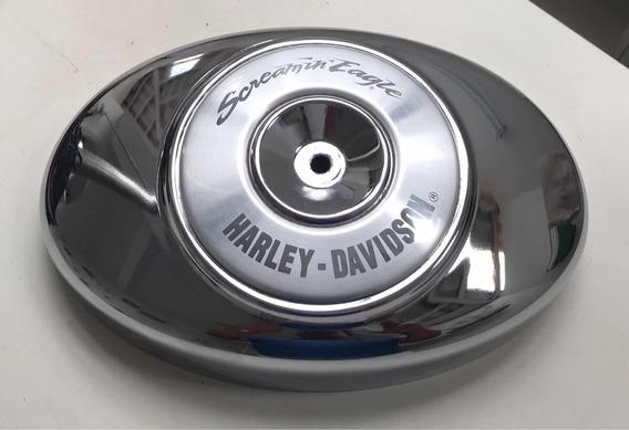 Harley Davidson Tampa Filtro De Ar Com Capa Screaming Eagle
