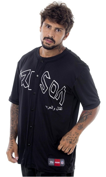 Camiseta Baseball Prison Street Wear, Rap, Hip Hop, Swag E Trap