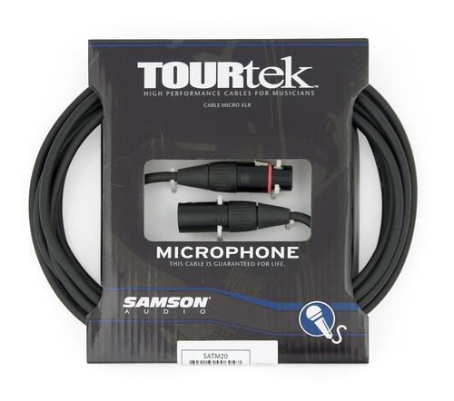 Cable Xlr-xlr Cannon Samson Tm20 6.6 Metros P/ Microfono