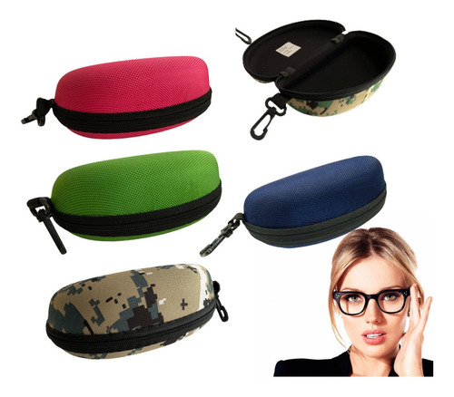 Estuches Para Lentes Color Mayor Detal Camuflado Unisex