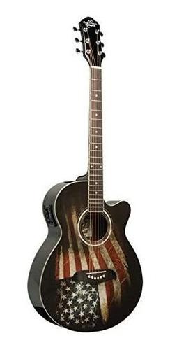Imagen 1 de 1 de Nuevo Oscar Schmidt Og10ce-lag Guitarra Eléctrica Acústica T