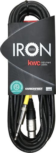 Imagen 1 de 2 de Cable Xlr-plug Estéreo Kwc Iron 252y De 6 Metros