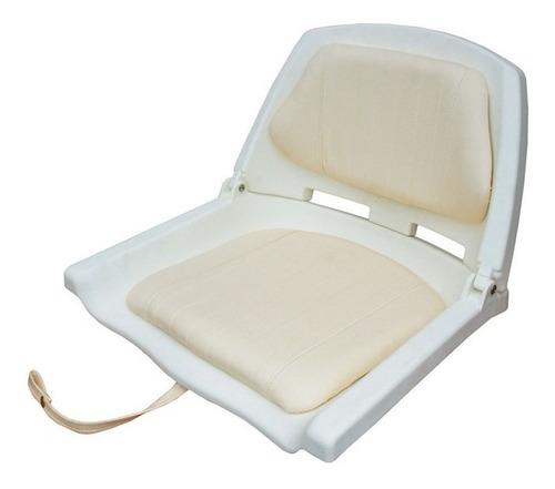 Butaca Plástica Blanca Con Respaldo Rebatible +almohadón