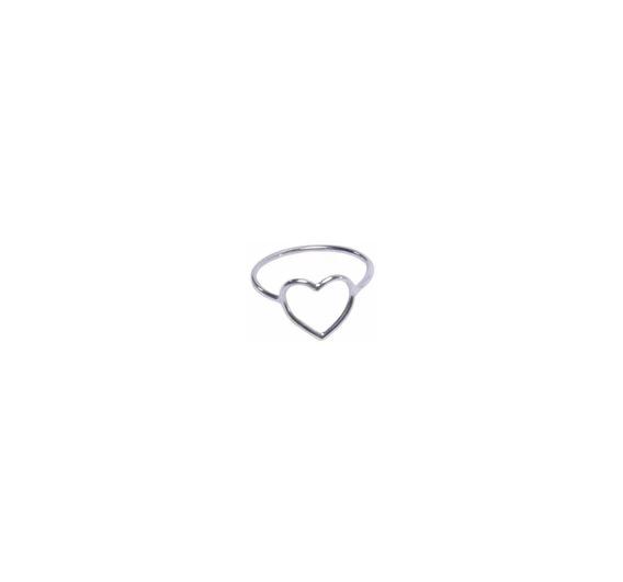 Anel Coração Em Prata 925