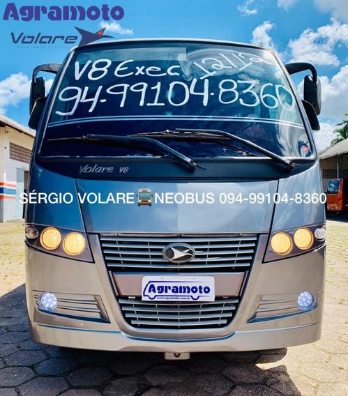 Micro Ônibus Volare V8 Executivo Cor Cinza Ano 2012/2012