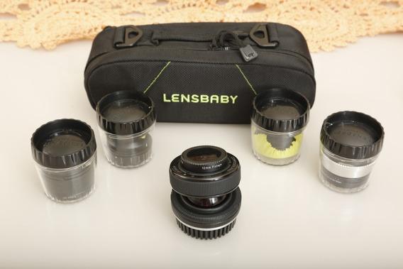 Kit Lensbaby Pra Canon Com 4 Lentes: 12mm 35mm 50mm 80mm