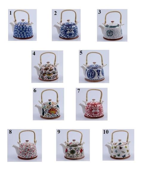 Tetera Porcelana 10 Modelos Filtro Te Hierbas Diseños Oferta